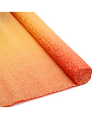 Бумага гофрированная Италия 50см х 2,5м 180г/м² цв.017/А7 желто-оранжевый арт. МГ-44744-1-МГ0543035
