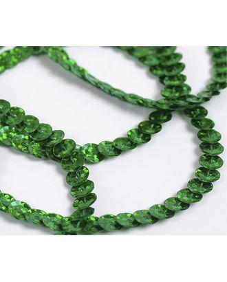 Пайетки на нитях ш.0,6см Laser Bright цв.50104 зеленый арт. МГ-7246-1-МГ0553505