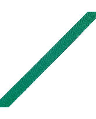 Тесьма киперная 10 мм хлопок 1,8г/см цв.зеленый 009 уп.50м арт. МГ-7298-1-МГ0556118