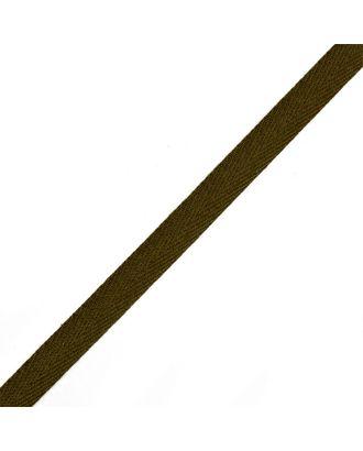Тесьма киперная ш.1см хлопок 1,8г/см цв.оливковый арт. МГ-7299-1-МГ0556119