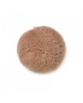 Помпон натуральный Кролик 8см цв.грязно-розовый арт. МГ-7310-1-МГ0556743