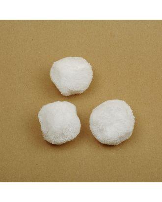 Помпоны из пряжи д.4см цв.белый арт. МГ-7322-1-МГ0557196