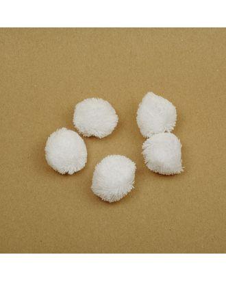 Помпоны из пряжи 1,0г/шт д.3см цв.белый арт. МГ-7407-1-МГ0561115