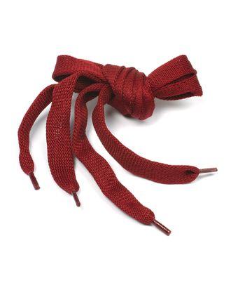 Шнурки плоские 14 мм 06с2341 длина 150 см, компл.2шт, цв.бордо арт. МГ-7591-1-МГ0586637