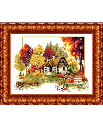 Набор для вышивки КАРОЛИНКА Осенний домик 32х47 см арт. МГ-47080-1-МГ0587266