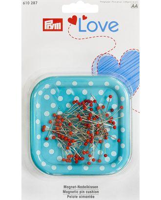 """610287 PRYM """"Love"""" Магнитная игольница с наполнением (9г булавок 0,6х30мм с цветными головками), пластик/железо арт. МГ-7603-1-МГ0587703"""