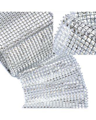 Стразы на бобине 5x5мм ш.12см цв.серебро арт. МГ-48483-1-МГ0597071
