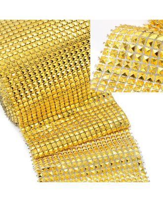 Стразы на бобине 5x5мм ш.12см цв.золото арт. МГ-48484-1-МГ0597072