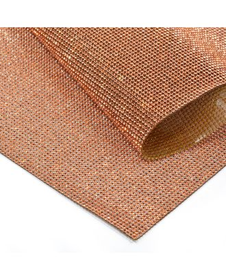 Стразы на листе клеевые 1,5мм, 24х40 см цв.крас.золото арт. МГ-7741-1-МГ0597381