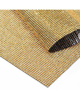 Стразы на листе клеевые 3мм, 24х40 см цв.золото арт. МГ-7743-1-МГ0597385