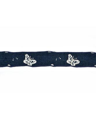 Лента джинсовая с рисунком ш.2,5см арт. МГ-7813-1-МГ0598011