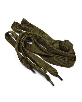 Шнурки плоские 14 мм 06с2341 длина 150 см, компл.2шт, цв.оливковый арт. МГ-7908-1-МГ0601562