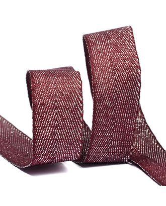 Тесьма киперная металлизированная 16 мм полиэстер цв.S021 красный уп.22,85м арт. МГ-7927-1-МГ0601592