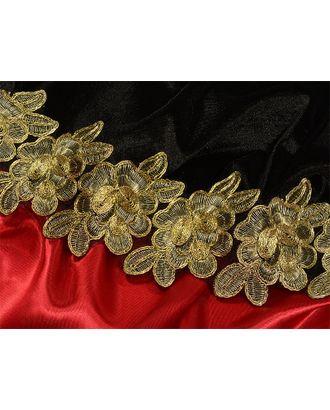 Кружево венецианское G1230 ш.8,5см, цв.01 золото арт. МГ-7974-1-МГ0602107