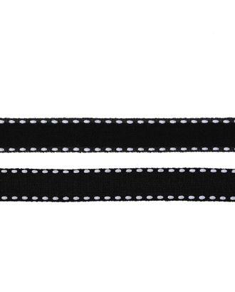 Лента бархатная с ниткой нейлон ш.1см цв.черный арт. МГ-80232-1-МГ0604737