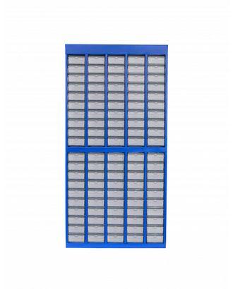 Стенд для хранения пуговиц ФХ100, 100 ячеек для 400 цветов, 132х58х22,5 арт. МГ-8025-1-МГ0605603