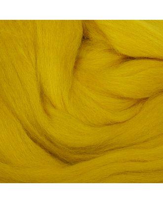 """Шерсть для валяния ТРО """"Гребенная лента"""" (100%полутонкая шерсть) 100г цв.1268 горчица арт. МГ-49836-1-МГ0607953"""