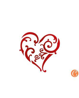 """Трафарет-мини """"Изящное сердечко"""" арт. МГ-49983-1-МГ0610490"""