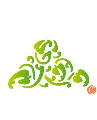 """Трафарет-мини """"Плетение из листьев"""" арт. МГ-49987-1-МГ0610494"""
