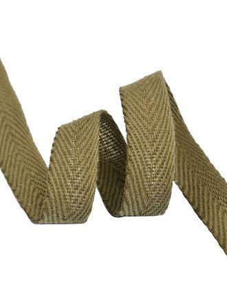 Тесьма киперная 15 мм хлопок 1,9г/см цв.хаки уп.50м арт. МГ-8398-1-МГ0615241