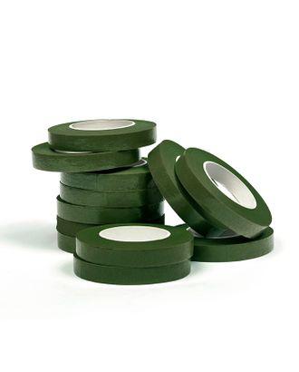 Тейп лента цв.темно-зеленый, ширина 10 мм, уп.27.43 м (уп. 12 шт) арт. МГ-50368-1-МГ0615431