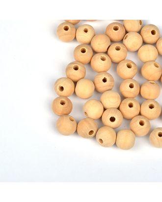 Бусины деревянные MAGIC HOBBY цв.натуральный уп.40г 12мм, in Ø4 мм арт. МГ-91485-1-МГ0619834