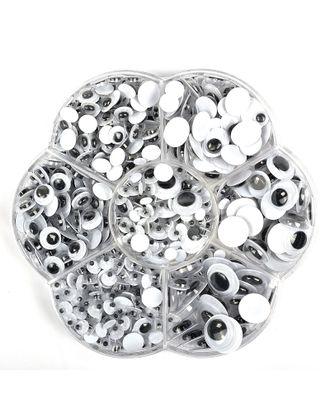 Глаза круглые бегающие 66823 цв.МИКС арт. МГ-8501-1-МГ0621515