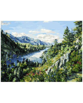 К по номерам Белоснежка Река Катунь 40х30 см арт. МГ-51653-1-МГ0626655