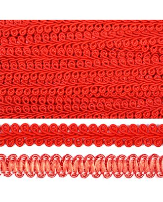 Тесьма Шанель плетеная ш.1,2см 0384-0016 цв.F162 (26) красный арт. МГ-80321-1-МГ0631578