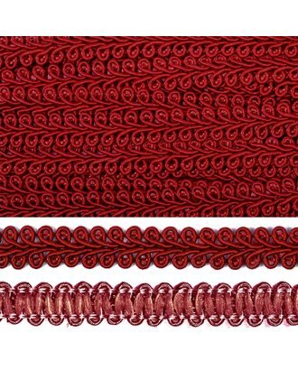 Тесьма Шанель плетеная ш.1,2см 0384-0016 цв.F178 (37) бордовый арт. МГ-80322-1-МГ0631579