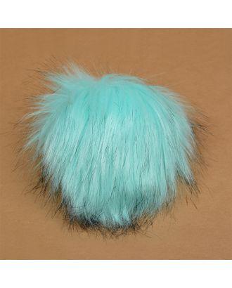 Помпон искусственный мех Песец 17-18см цв.голубой №3 А арт. МГ-8759-1-МГ0632179
