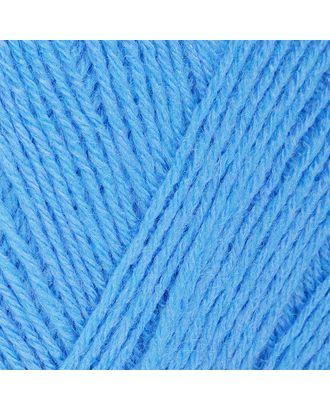 """Пряжа для вязания ПЕХ """"Детский каприз трикотажный"""" (50% мериносовая шерсть, 50% фибра) 5х50г/400м цв.005 голубой арт. МГ-80343-1-МГ0634946"""