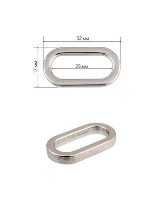 Рамка металл овальная 072502 3,2х1,7см ш.2,5см арт. МГ-9085-1-МГ0638159