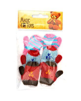 Варежки для игрушек вязаные 5-6см цв.ассорти уп.3 пары арт. МГ-9149-1-МГ0638482