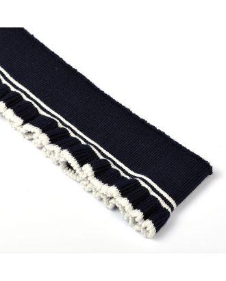 Подвяз трикотажный полиэстер РЮШ цв.т.синий с белыми полосами арт. МГ-9269-1-МГ0641172