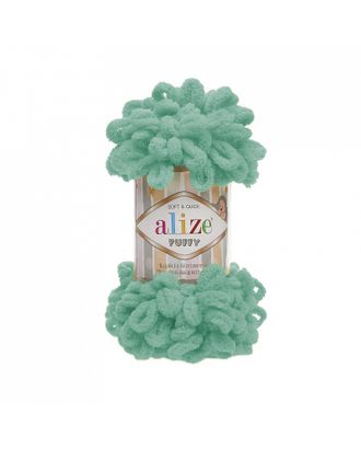 Пряжа для вязания Ализе Puffy (100% микрополиэстер) 5х100г/9.5м цв.490 св.бирюзовый арт. МГ-53424-1-МГ0641862