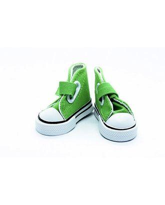 Кеды для кукол на 1 лип. размер подошвы 7,5см выс.4,5см пара, цв.зеленый арт. МГ-9307-1-МГ0642575