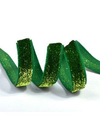 "Лента ""Бархотка"" рис.9252 ш.1см цв.21 салатовый/зеленый арт. МГ-80435-1-МГ0642994"