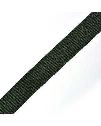 Тесьма в рубчик (шляпная) шир.20мм цв.т.зеленый  уп.50м арт. МГ-53997-1-МГ0645788
