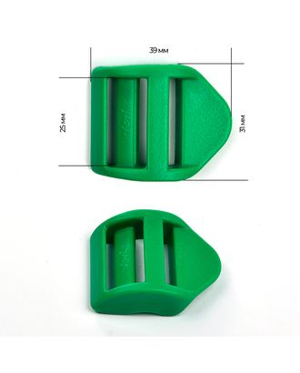 Пряжка регулятор трехщелевая силовая ш.2,5см LS25А цв.зеленый нагрузка 100кг арт. МГ-54020-1-МГ0645853