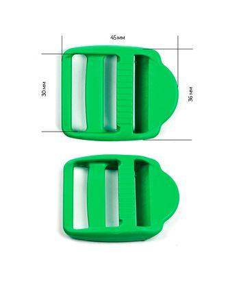 Пряжка регулятор трехщелевая ш.3см LE30А цв.зеленый нагрузка 90кг арт. МГ-54028-1-МГ0645861