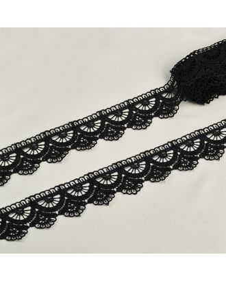 Кружево гипюр ш.3,3см цв.03 черный арт. МГ-73523-1-МГ0647242