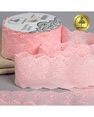 Шитье ш.5,5см цв.240 розовый, хлопок арт. МГ-9481-1-МГ0647352