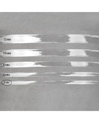 Лента силиконовая прозрачная 38002 ш.0,3см толщ.0,22мм уп.1кг арт. МГ-73547-1-МГ0648434