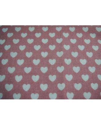 """Ткань """"Декор-3/03"""" с принтом КЛ.25100 50%лен 50%хлопок 50х50см цв.розовый арт. МГ-88572-1-МГ0650299"""