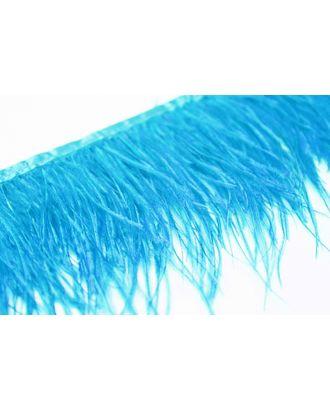 Перья на ленте Страус шир.13см цв. бирюзовый уп.2м А арт. МГ-80571-1-МГ0658970