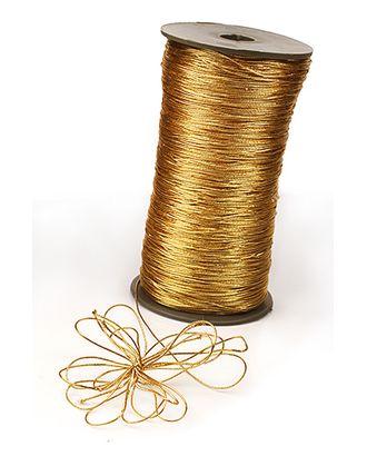 Шнур декор. 21/75 блестящий золото (1мм х 720м) арт. МГ-80689-1-МГ0661501