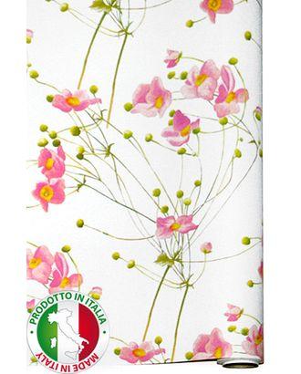 Бумага капелла 41/202-00 цветочный луг на белом (100см х 10м) арт. МГ-55822-1-МГ0661596