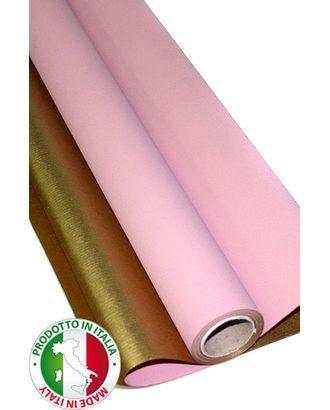 Бумага крафт 13/61-75 дольче натура- розовая с золотом (70см х 10м) арт. МГ-56080-1-МГ0662597