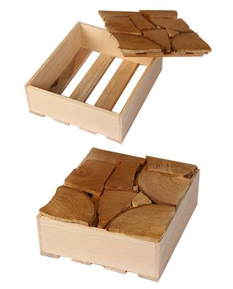 Коробка деревянная 306/75 прямоуг. с золотой мозаикой (19х17х6см) арт. МГ-56440-1-МГ0663746